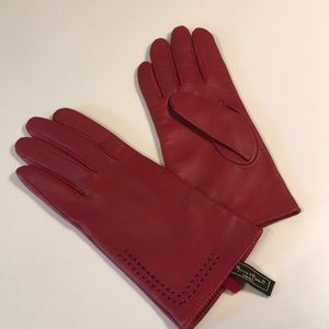 Accessories - Women's leather gloves Red
